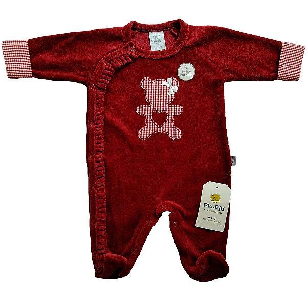Macacão Plush para Bebês - Ursinha