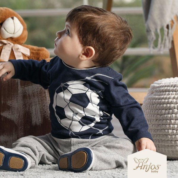 Conjunto Bebê Body Longo e Calça - Futebol