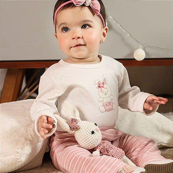 Conjunto de Inverno para Bebês - Coelhinha Rosa
