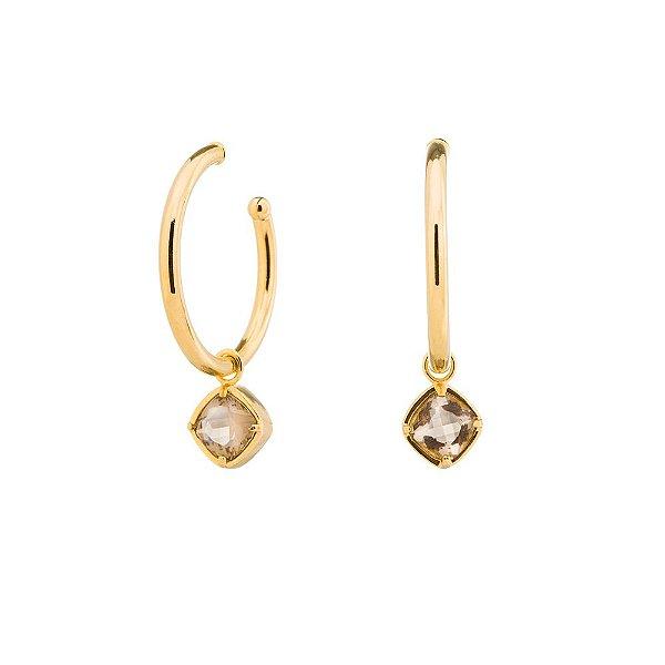 Brinco Burlesque 705 Ouro Cristal Incolor
