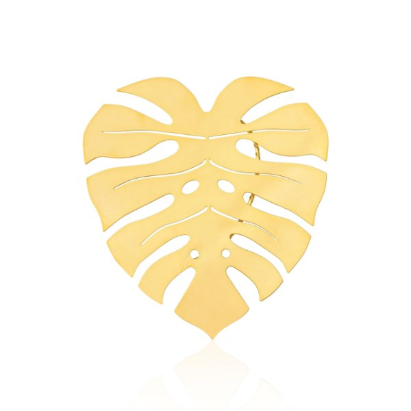 Brinco Ear Cuff Misticismo Tropical 693 Ouro Costela