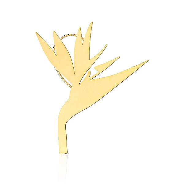 Brinco Ear Cuff Misticismo Tropical 696 Ouro Strelitzia