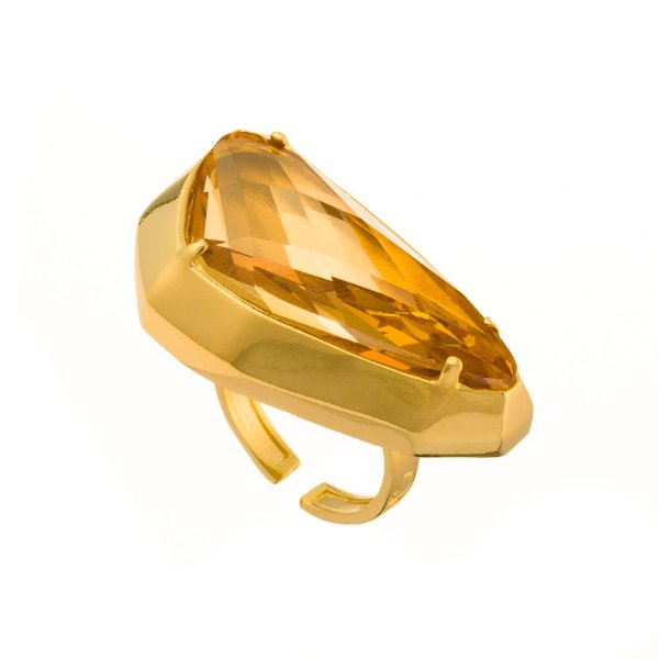 Anel Burlesque 317 Ouro Swarovski