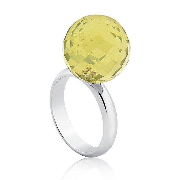 Anel Bubbles Ródio Green Gold