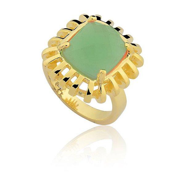 Anel 248 Ouro Quartzo Verde