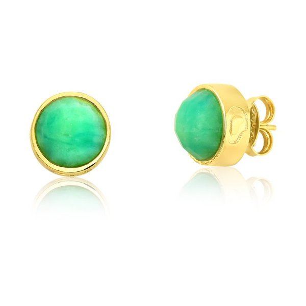 Brinco Bubbles 691 Ouro Quartzo Verde