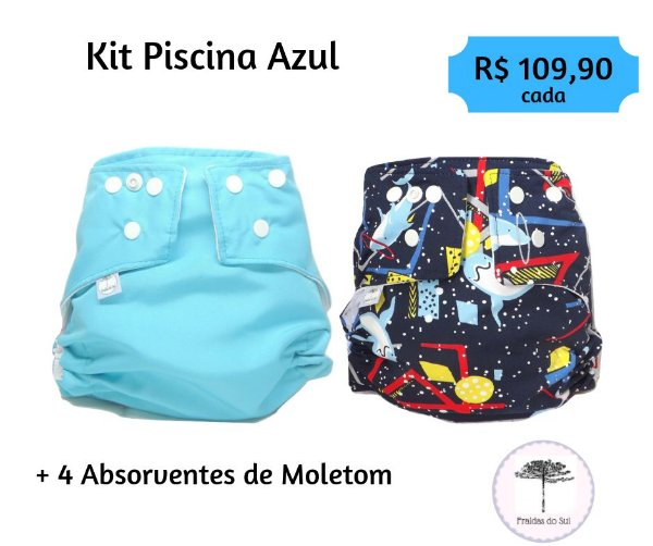 kit Piscina Azul