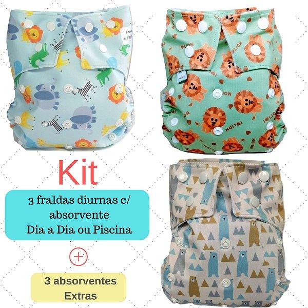 Kit bichinhos - Fraldas Ecológicas