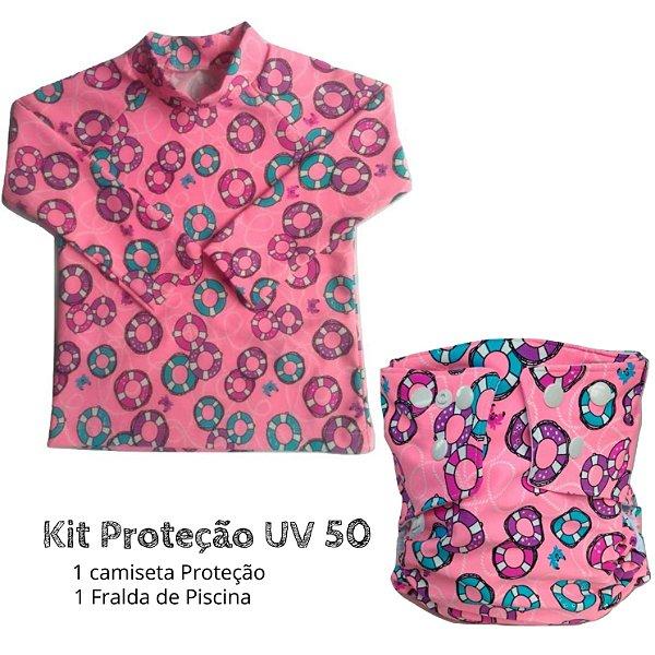 Kit Proteção boias rosa UV 50 +
