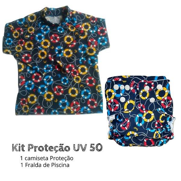 Kit Proteção boias azul UV 50 +