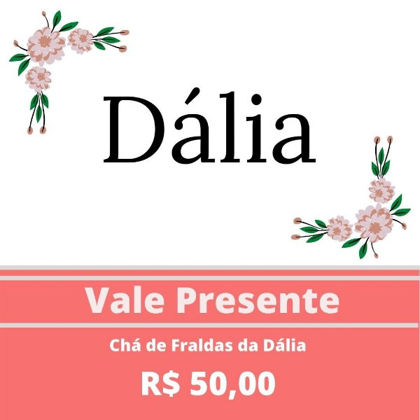 Chá de Fraldas da Dália