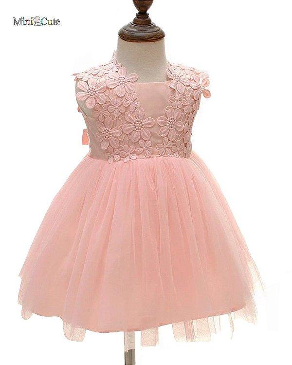 Vestido infantil festa tule