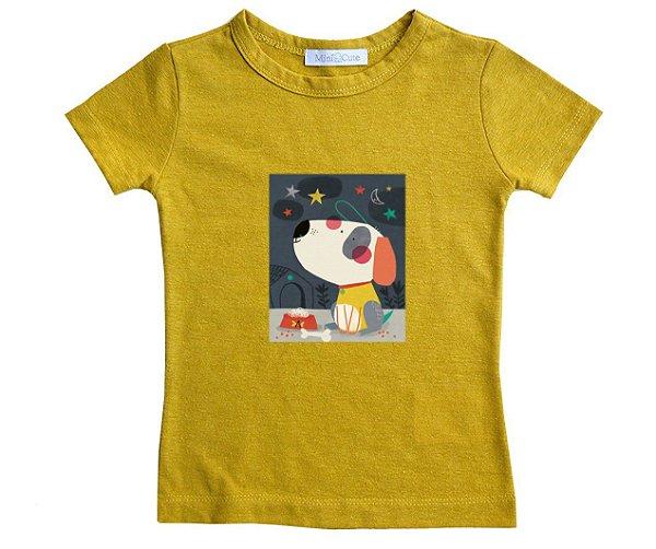Camiseta linho cachorrinho
