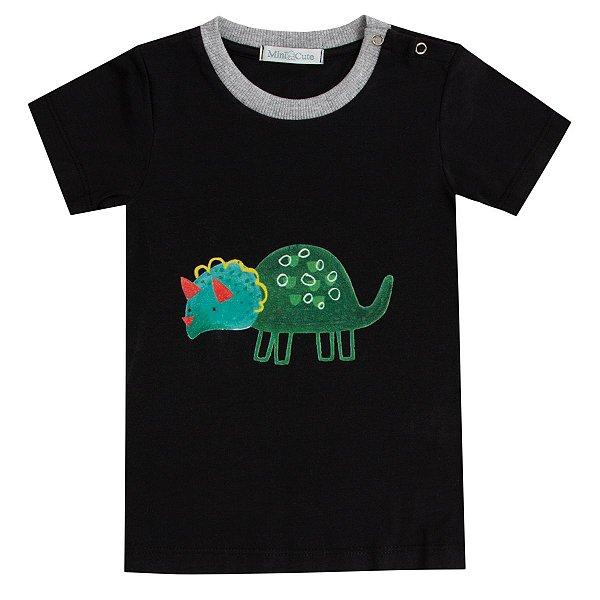Camiseta infantil Dinossauro verde