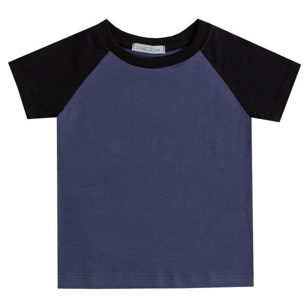 Camiseta Haglan bicolor azul