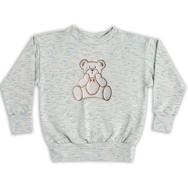 Blusa manga comprida Ted Bear