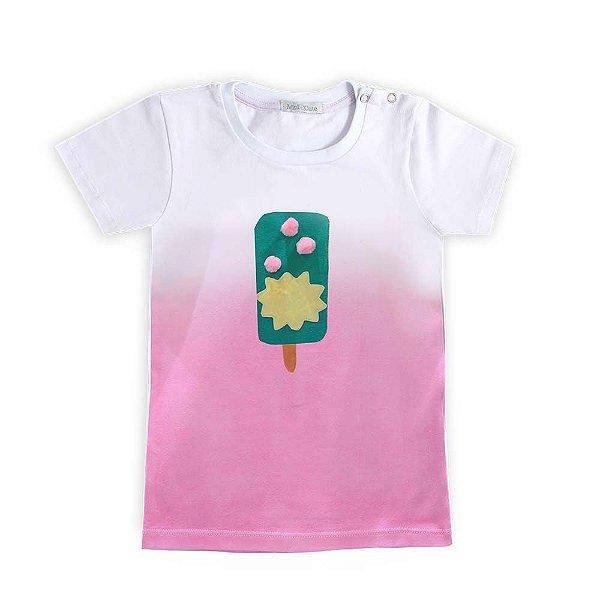 Camiseta tie dye ombrê sorvete