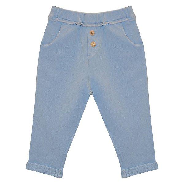 Calça bolso e botões frontal karibe