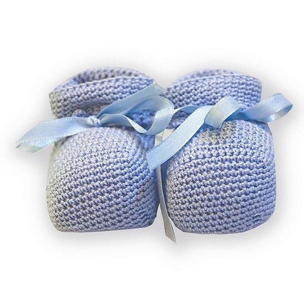 Sapatinho bebê crochê algodão