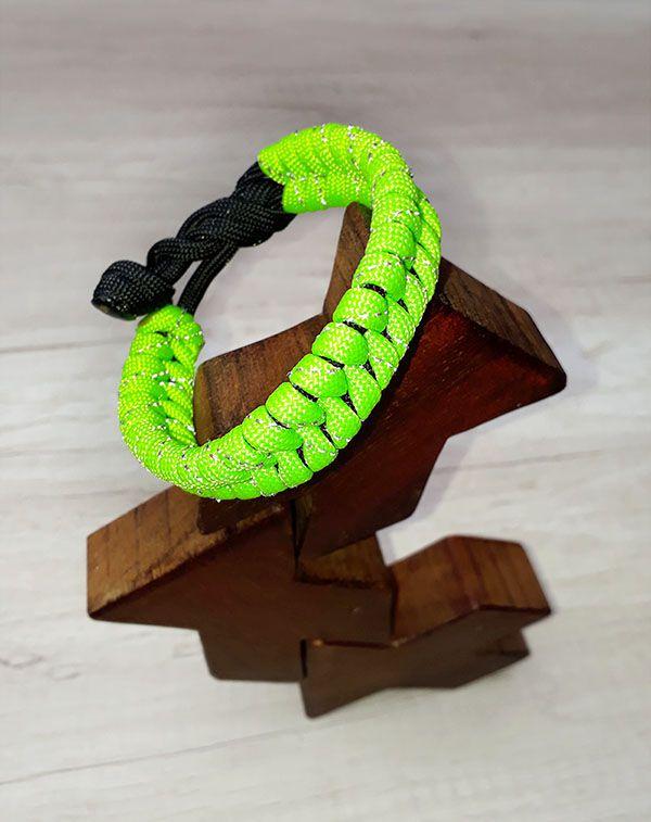 Pulseira Equilíbrio Verde Neon Refletivo