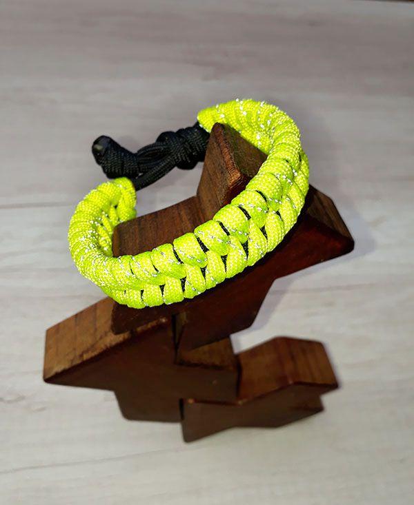 Pulseira Equilíbrio Amarelo Neon Refletivo