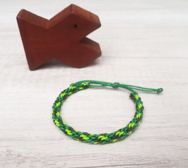 Pulseira Aloha - Verde/Marrom/Verde Neon