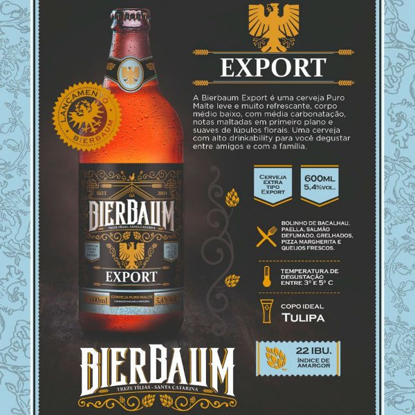 Cerveja Bierbaum Export | Garrafa 600ml