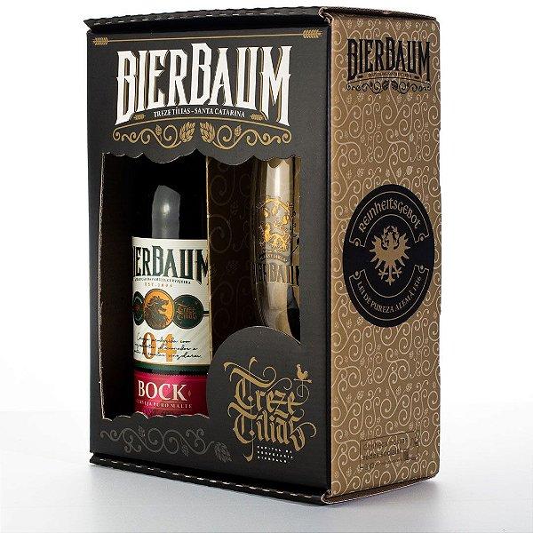 Kit Especial Colecionador de Cervejas Bierbaum   Bock + Copo de Cerveja