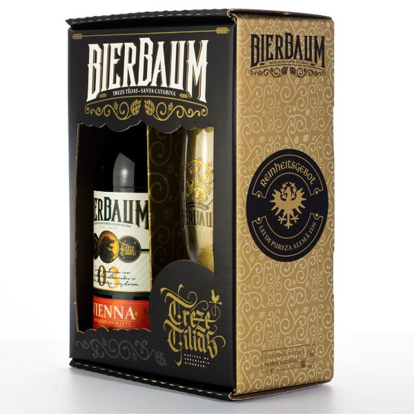 Kit Especial Colecionador de Cervejas Bierbaum   Vienna + Copo de Cerveja