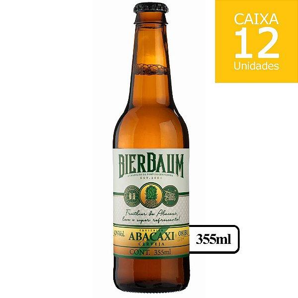 Caixa com 12 Cervejas Fruit Beer Abacaxi Bierbaum   Garrafa 355ml