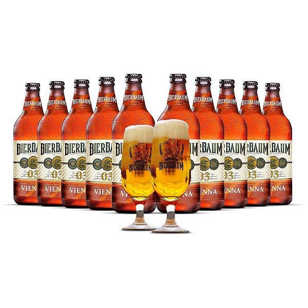 Kit com 10 Cervejas Vienna Bierbaum + Duas Taças