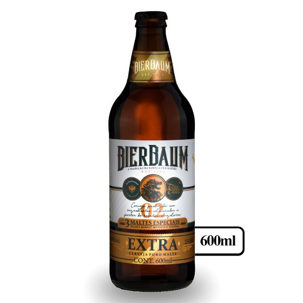 Cerveja Pilsen Extra Gold Bierbaum | Garrafa 600ml