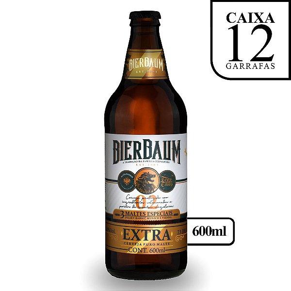 Caixa com 12 Cervejas Pilsen Extra Gold Bierbaum | Garrafa 600ml