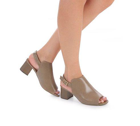 ae4368126c Tamanco Nude Ankle Boot Salto Quadrado Betty - SÓ MAIS UM SHOES ...