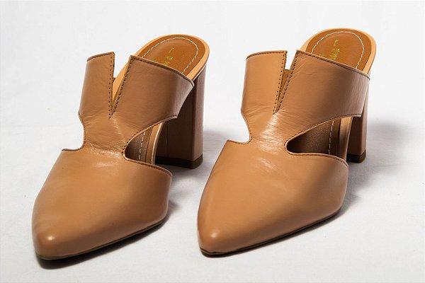 fec174b716 Mule Nude Couro Salto Grosso Jamyn - SÓ MAIS UM SHOES - Sapatos e ...