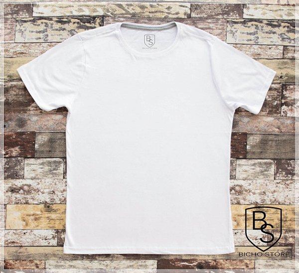Camiseta básica lisa (sem estampas) - BRANCA