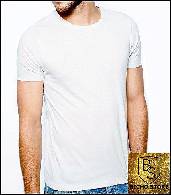58057f444e1e8 Camiseta básica lisa (sem estampas) - BRANCA - Bichostore