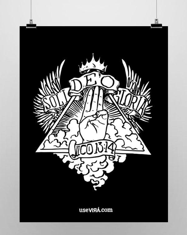 """""""DEO GLORIA""""   Poster (Sem Moldura/Com Moldura)"""