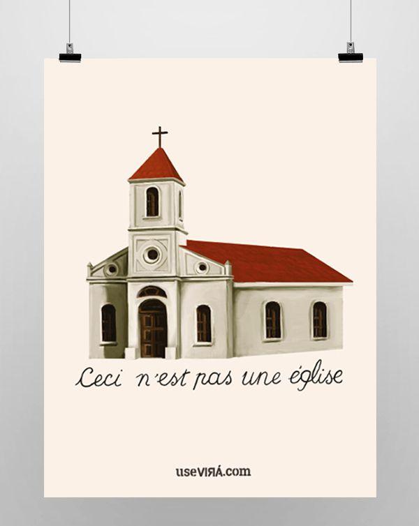 """""""ÉGLISE""""   Poster (Sem Moldura/Com Moldura)"""