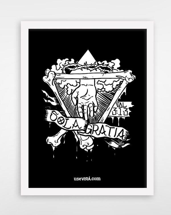 """""""GRATIA""""   Poster (Sem Moldura/Com Moldura)"""