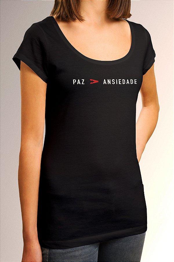 Camiseta Longtee Paz Maior Que Ansiedade