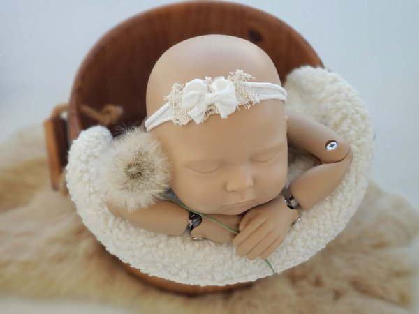 Headband Lacinho Branco