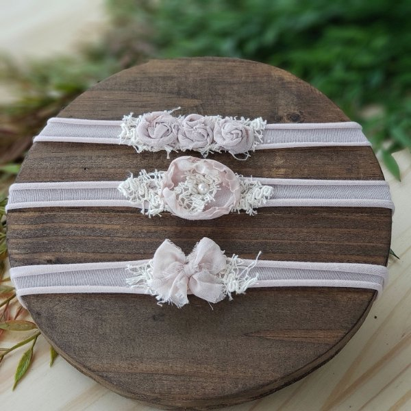 Kit Headbands Rosa Nude
