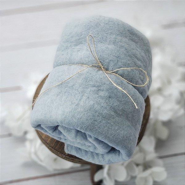 Manta Feltrada ( Fluffy) Azul