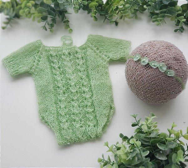 Conjunto Mohair Verde