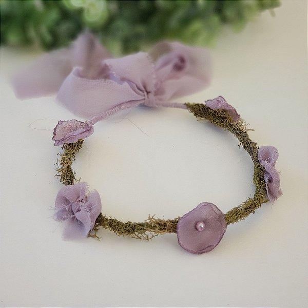 Coroa Flor + Laço Lilac