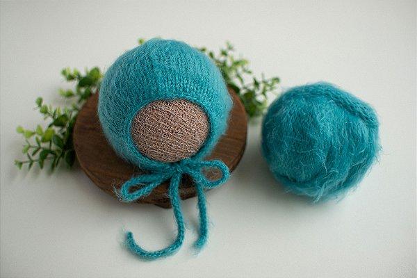 Conjunto Wrap Pelo Azul Turquesa
