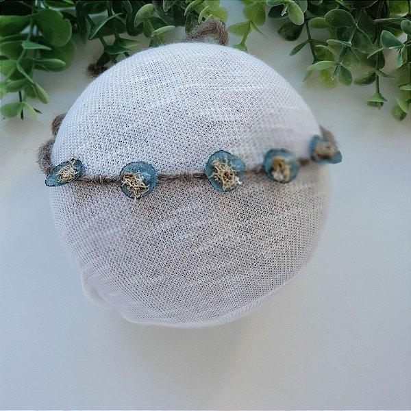 Headband Organic Azul Turquesa
