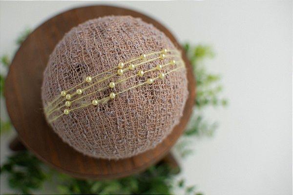 Headband Pérola Amarelo