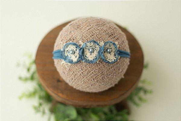 Headband Lorena Azul Jeans